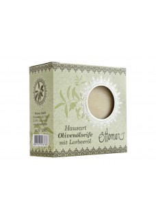 Hausart Olivenölseife grün mit Lorbeeröl verpackt 200 g